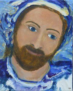Kuthumi, zweites Portrait, gemalt von Cora Schwindt